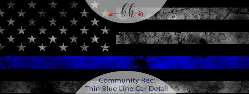 thin blue line car detail